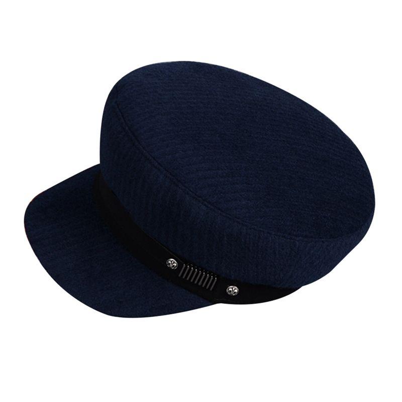 Compre Sombreros Vintage Mujer Primavera Otoño Ocio Azul Marino Gorro Moda  Beret Azul Nuevo A  26.41 Del Duoyun  ae852a2156ab