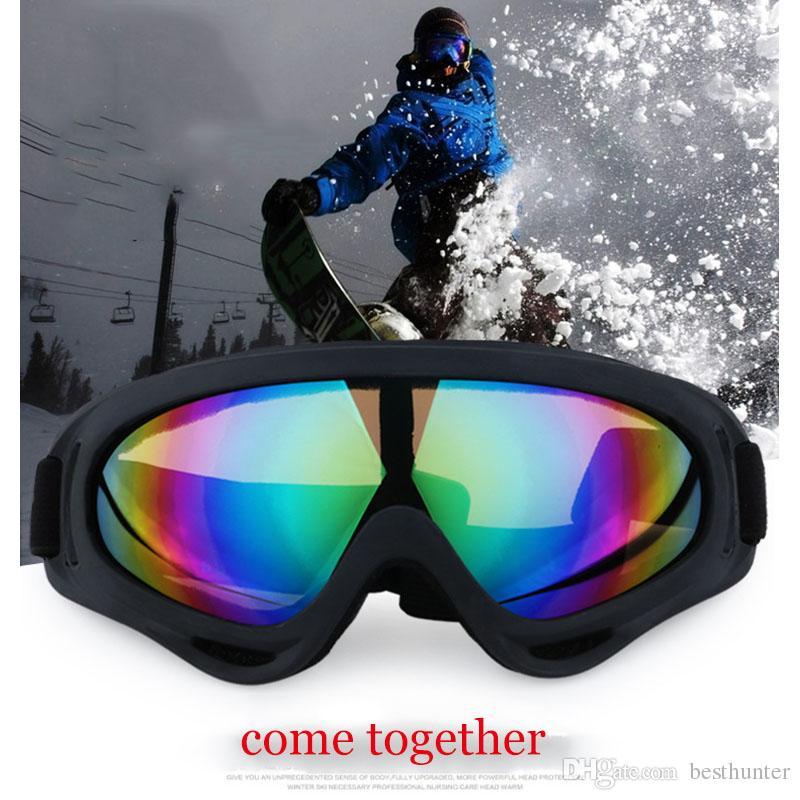 bbe51339296a4 Compre Óculos De Esqui Esportes Ao Ar Livre Windscreen X400 Óculos Único  Camada De Neve Espelho Óculos De Proteção Da Motocicleta Adulto Sapatos Para  Homens ...