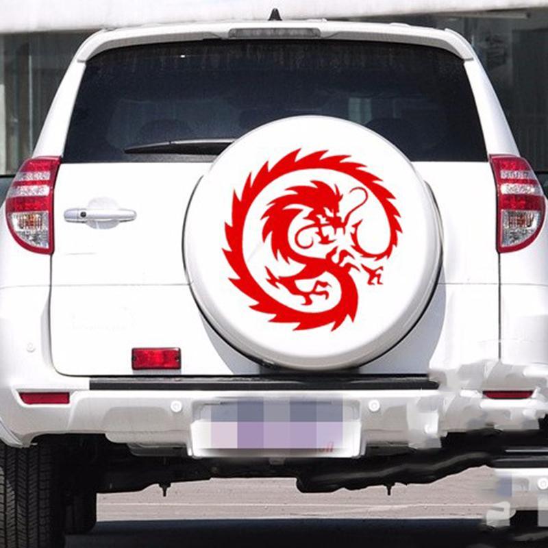 Chinese Dragon Circular Creative Decals For Car Doors Car Windows  Waterproof Art Painting Stickers Vinyl Decor Decals 50*50cm