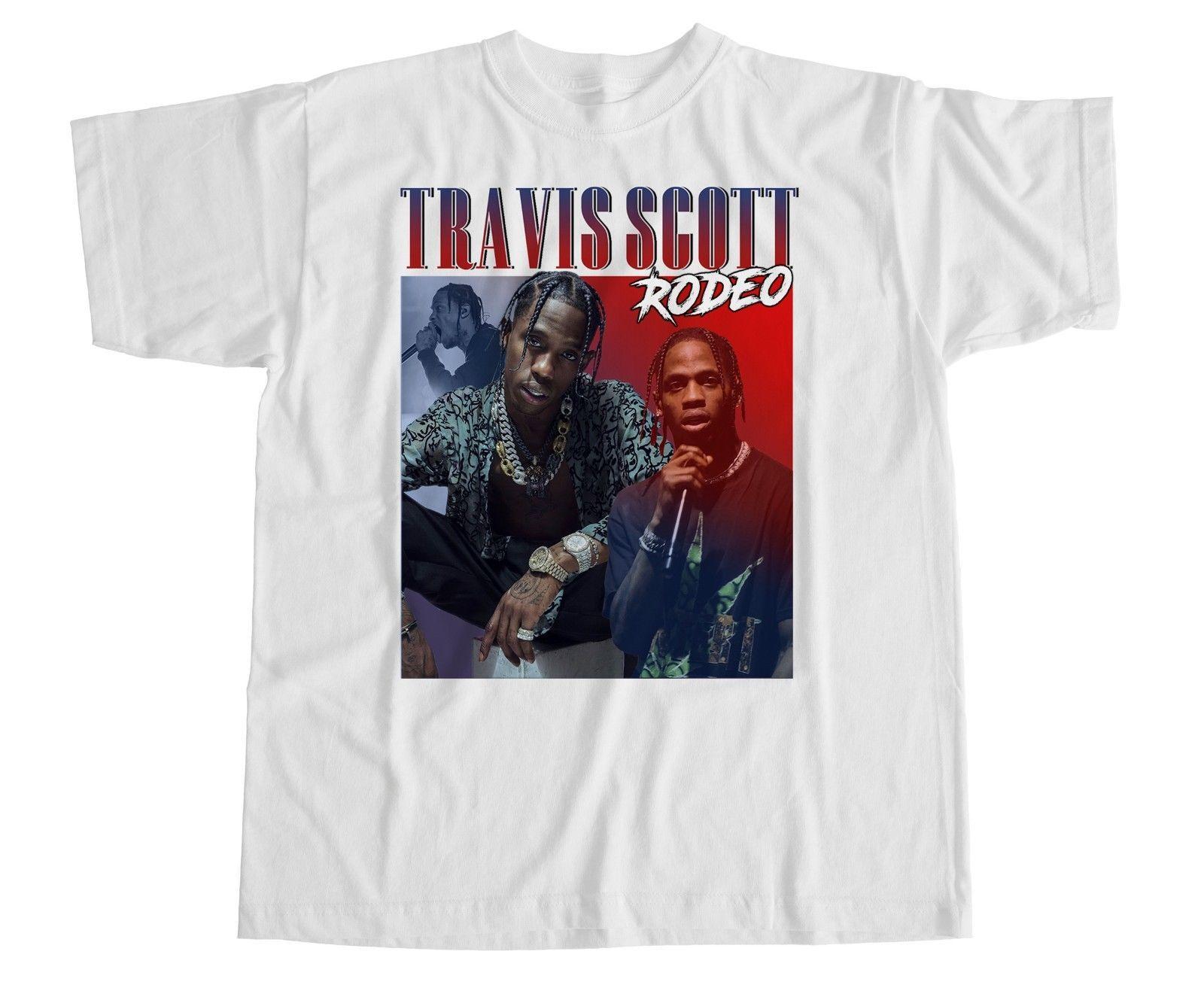 f1c9a6bfffcf4 Travis Scott T Shirt Homage XXX Rodeo Kylie Hip Hop Tribute Vintage Jenner