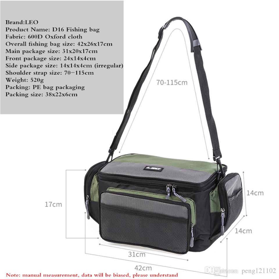 Wholesale- Top quality Fishing tackle storage bags Large Capacity Multifunctional Lure Fishing Tackle Pack Outdoor Travel Bags 42*26*17cm