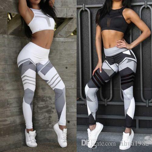 Womens Yoga Trouser Autumn Gym Leggings Fitness Sports Tight Athletic Pants