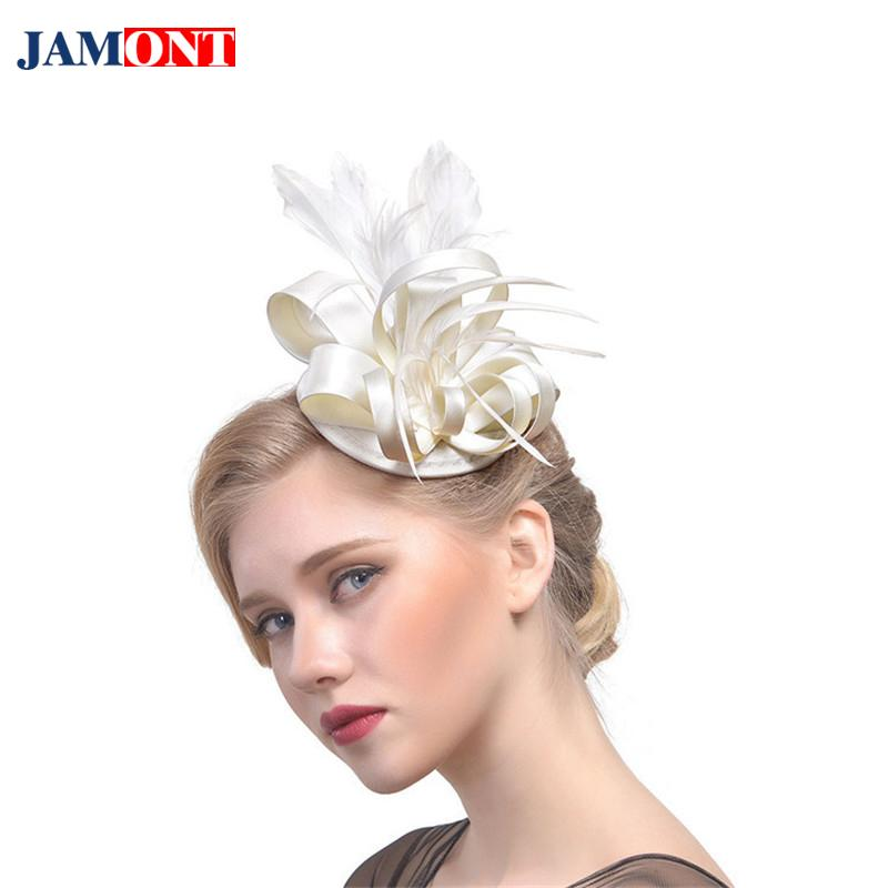 Women s Feather Hair Accessories Europe And America Hat Helmet Boutique  Party Bride High Quality Fine Headdress Hair Accessories Fedoras Cheap  Fedoras ... b6dc7d3828a3