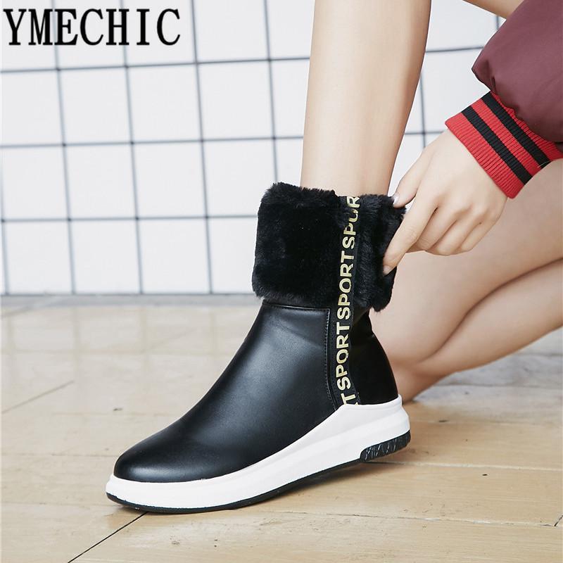 022f4022 Compre Venta Al Por Mayor Moda Botas De Invierno De Piel Sintética Para  Mujer Zapatos De Plataforma De Felpa Mujer Beige Negro Botines Tallas  Grandes ...