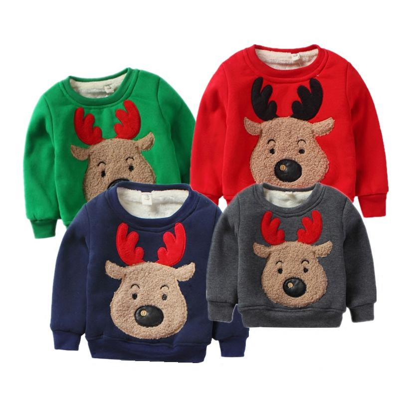 maggies walker small boys christmas deer children sweaters baby cotton plus velvet thick warm campaign christmas elk sweater knitted sweater patterns for