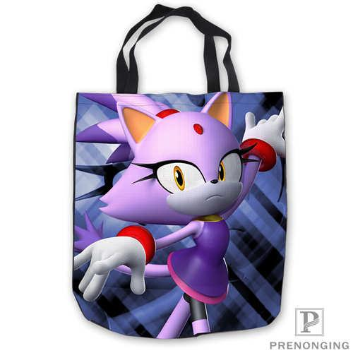 Custom Canvas sonic-and-shadow Tote Shoulder Shopping Bag Casual Beach HandBag Daily Use Foldable Canvas #180713-03-22.6