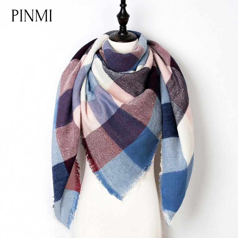 445bd7dfa74ed New Warm Winter Scarf Women Shawl Fashion Tartan Cashmere Scarf Luxury Brand  Plaid Blanket Scarves Triangle Bufanda Wholesale Tartan Scarves Plaid  Scarves ...