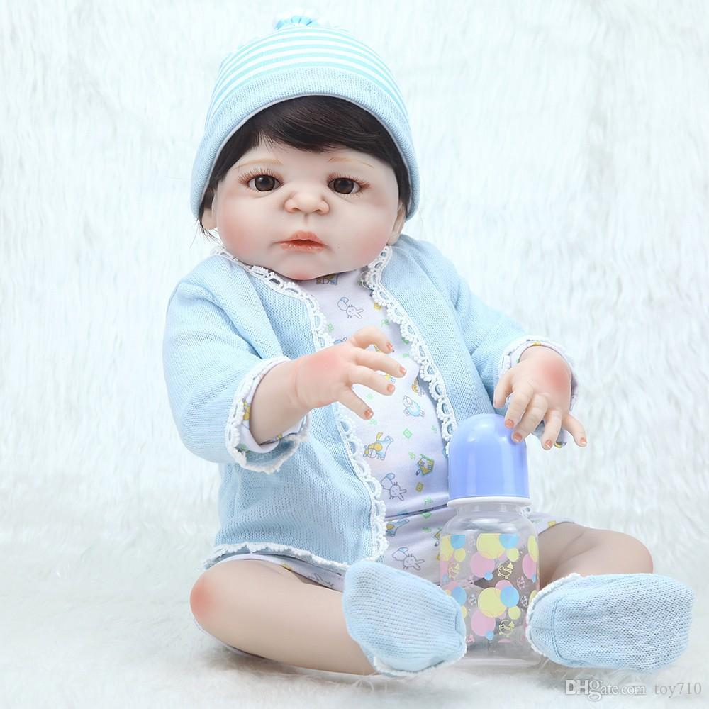Großhandel 22 Volle Silikon Reborn Puppe Baby Junge Mädchen Puppe ...