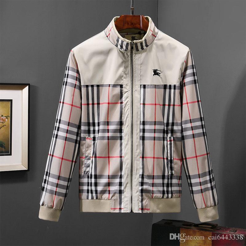 Großhandel Herbst Reißverschluss Jacken Marken Mann Mode Druck Kleidungs  Männer Stehen Kragen Mantel Hochwertige Hip Hop Lange Hülsen Jacke   0818  ... 0b1f18ba46