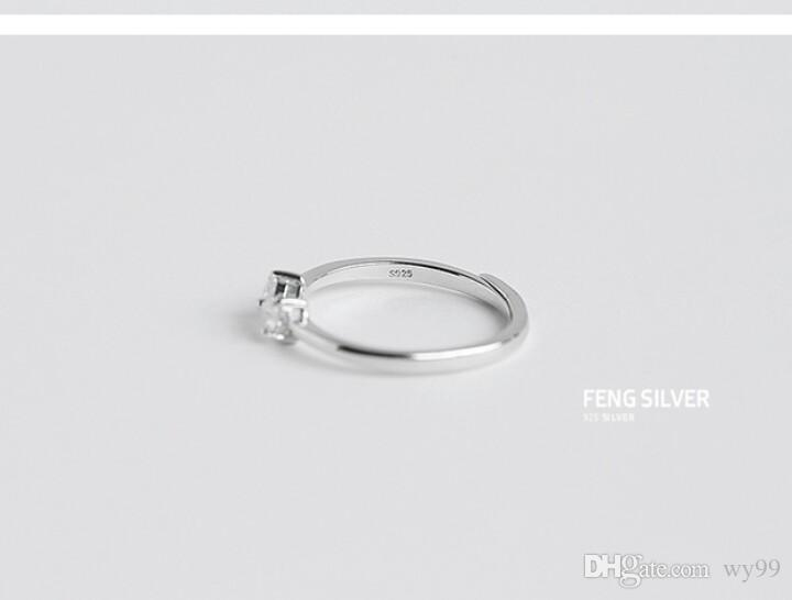 New Arrival Women's European and Americal Korean Sterling Silver Simple Fashion Diamand Ring of Index Fanger