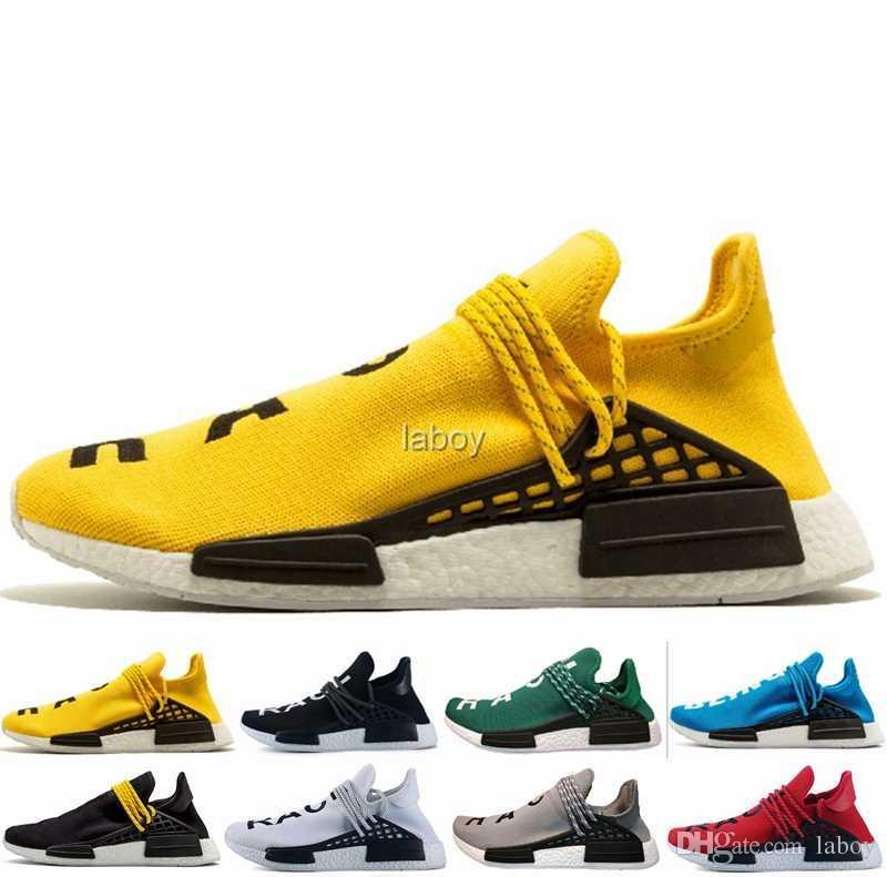 b4cd6e4f6cac6c ... available Human Race Trail Running Shoes NMD Men Women Pharrell Williams  HU Runner Yellow Black White  shopping 2018 ...