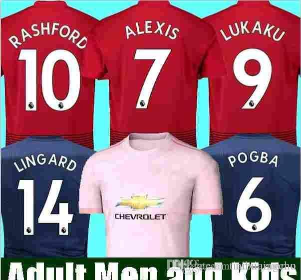 db32514a9 2018 2019 Premier League ALEXIS LUKAKU POGBA MAN FRED UTD LINGARD 10 ...