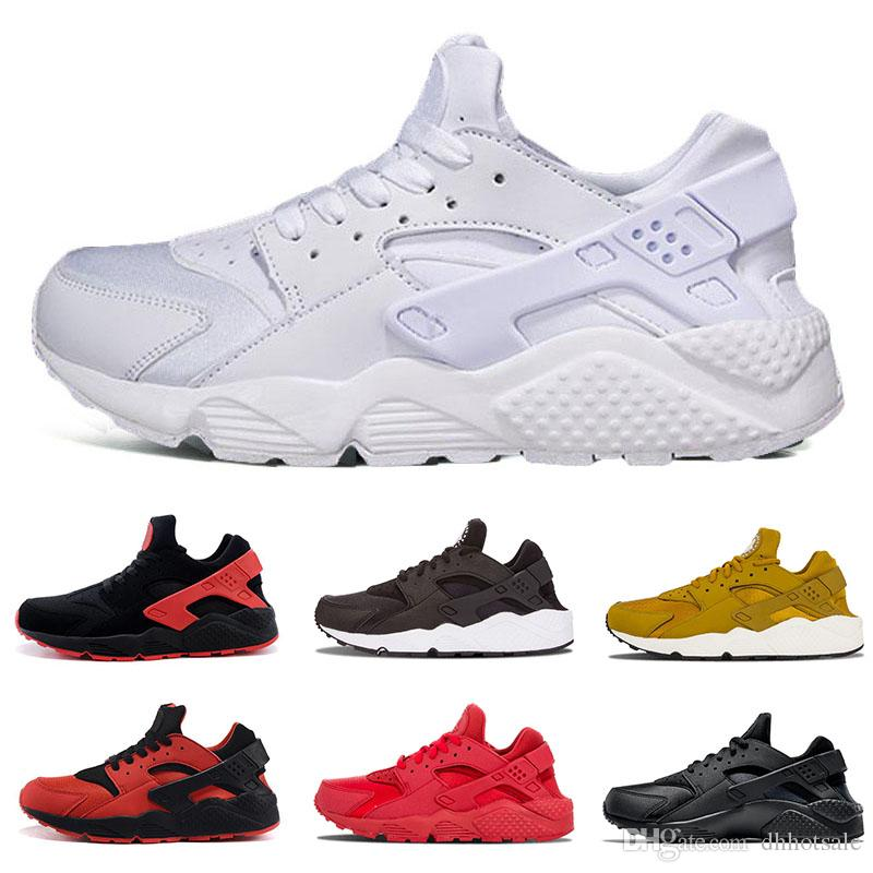 buy popular a9fbf efdb7 Huarache Ultra Running Shoes Triple Black White Red 1.0 4.0 Men Women  Huaraches Breath Trainer Runner Sport Sneakers US 5.5 11 Shoe Shopping Trainers  Shoes ...