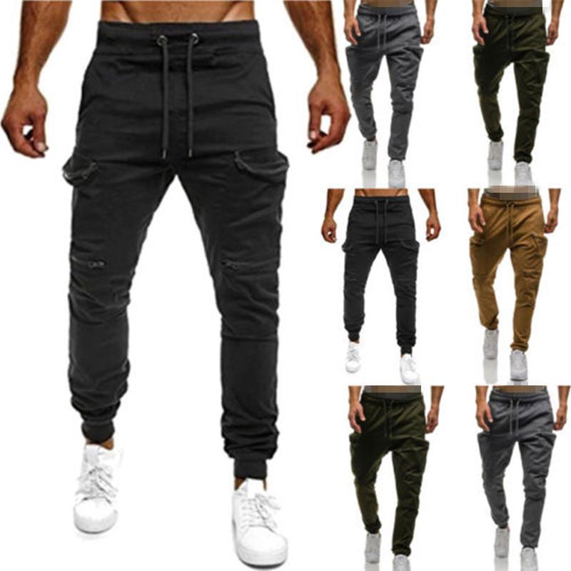 f75841c8239a Acheter 2018 Pantalons Hommes Nouveau Mens Pantalons Décontractés Stretch Hommes  Pantalon Homme Long Droite Noir Quatre Couleur Plus La Taille Pantalon ...