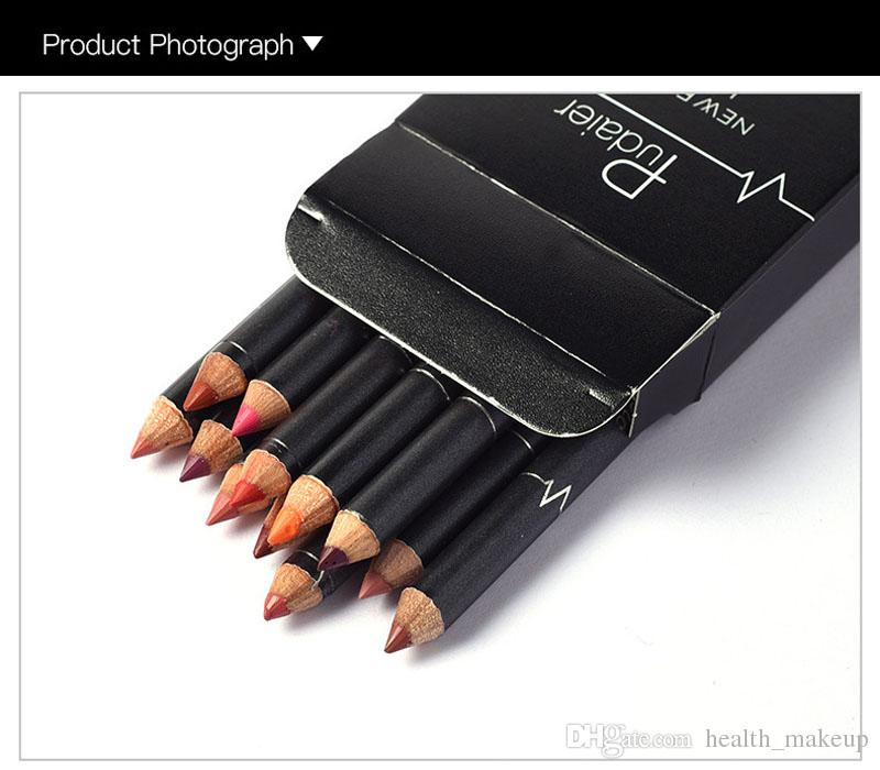 Factroy Pudaier Waterproof Lips Liner Long Lasting Matte Makeup Set Lipstick Pencil Lipliner Sexy Stereoscopic Kits DHL Free Ship