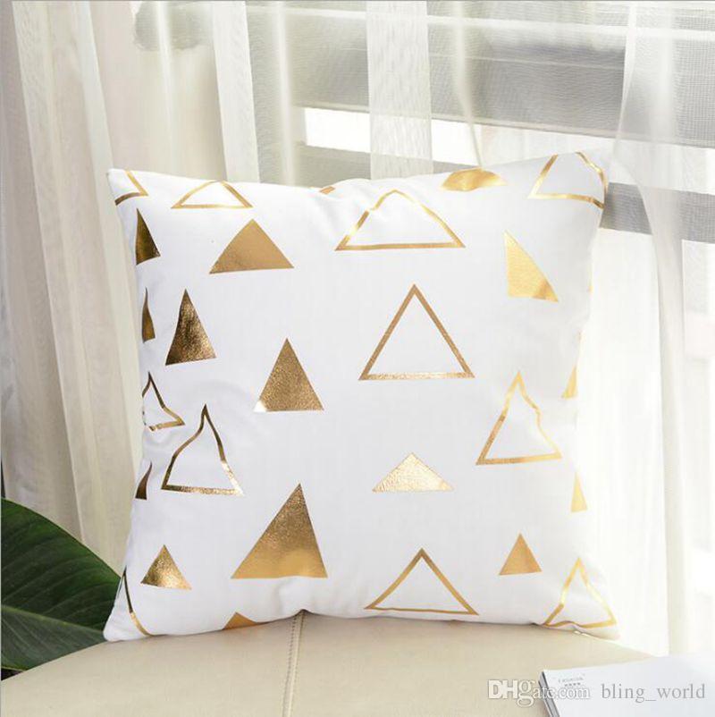 Bronzing Cushion Gold Coprisedili Decorativi Cuscino Divano Sedile Auto Lancio Federa Lips Ciglia Nero Oro Bianco Home Decor YW1168