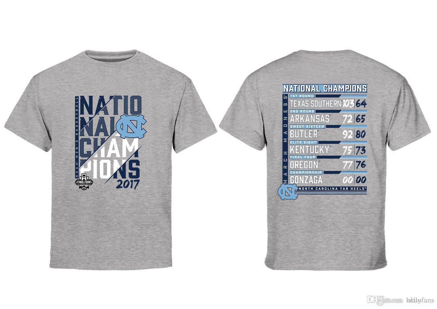 NCAA North Carolina T SHIRT 2017 Men'S Basketball National ...