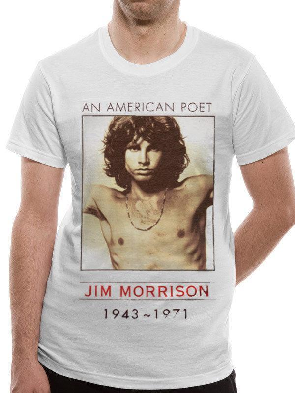 01e2f5d3e3d1 The Doors Jim Morrison American Poet Official Rock Music White Mens T Shirt  Moto Shirts Tee T Shirts From Yubin7, $27.6| DHgate.Com