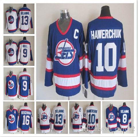 546fb2a3 ... 2018 throwback winnipeg jets hockey jerseys 13 teemu selanne 10 dale  hawerchuk 9 bobby hull 16