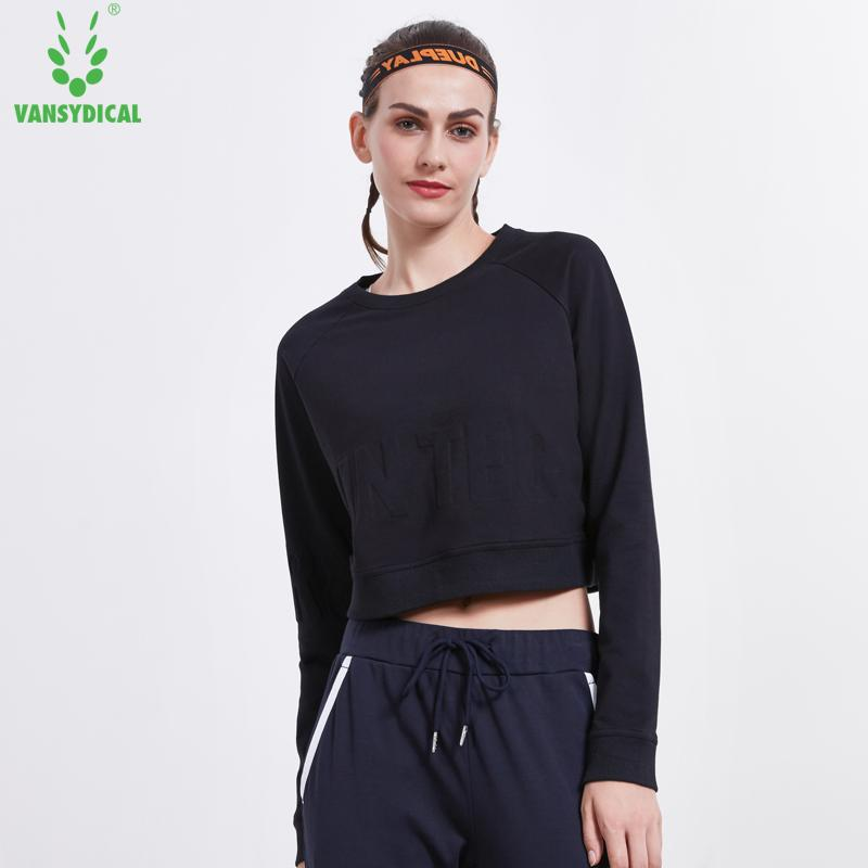 715f92556b4c6 Vansydical Sexy High Waist Yoga Shirts Women Long Sleeve Running Tops  Breathable Tennis Training Sweatshirts Loose Pullovers Yoga Shirts Cheap Yoga  Shirts ...