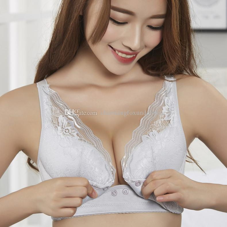 1c56e0d87 Nursing Bras Convenient Feeding Bras For Great Mother Lace Underwear With  Front Closure For Nursing Lift Up Shaping Bras Four Hook And Eye NZ 2019  From ...