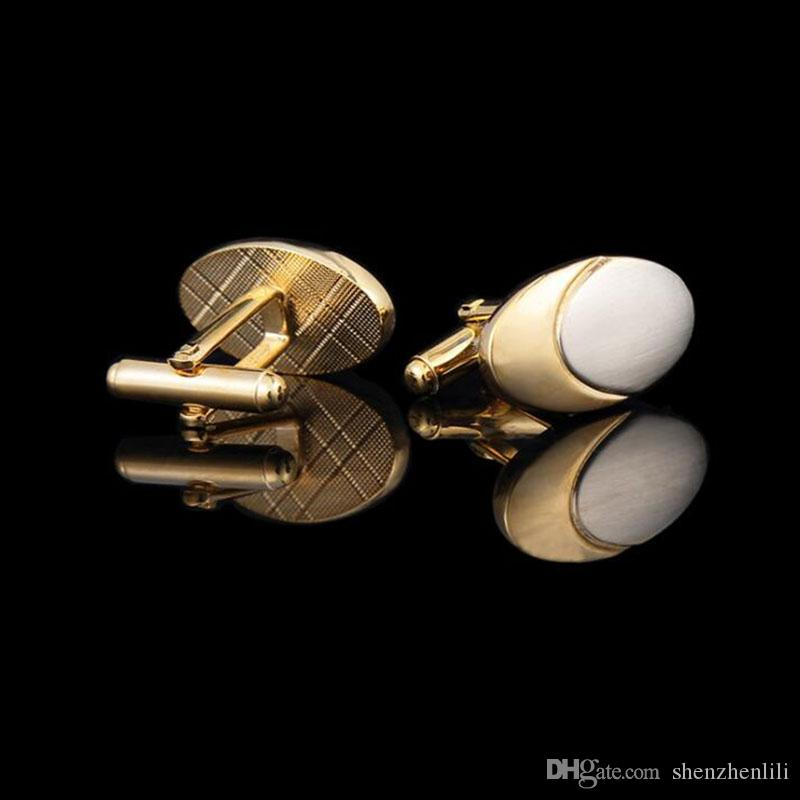 Gold Plating Pigeon eggs Europe and America Middle East Men's Cufflinks Business Wedding Opening Ceremony Gift Shirt Cuff