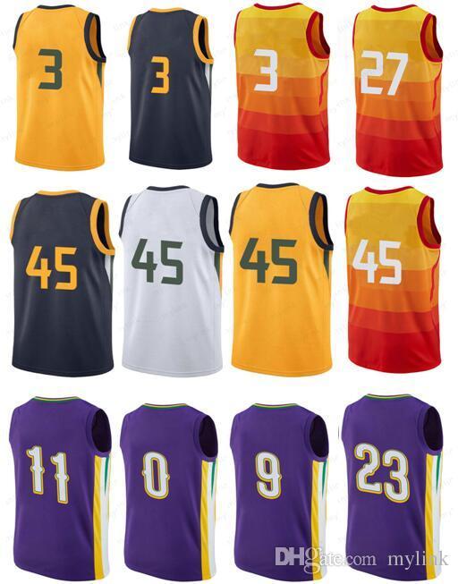 4fc71e5cd New Mens City Version Orange Ricky Rubio Jersey Rudy Gobert Donovan ...