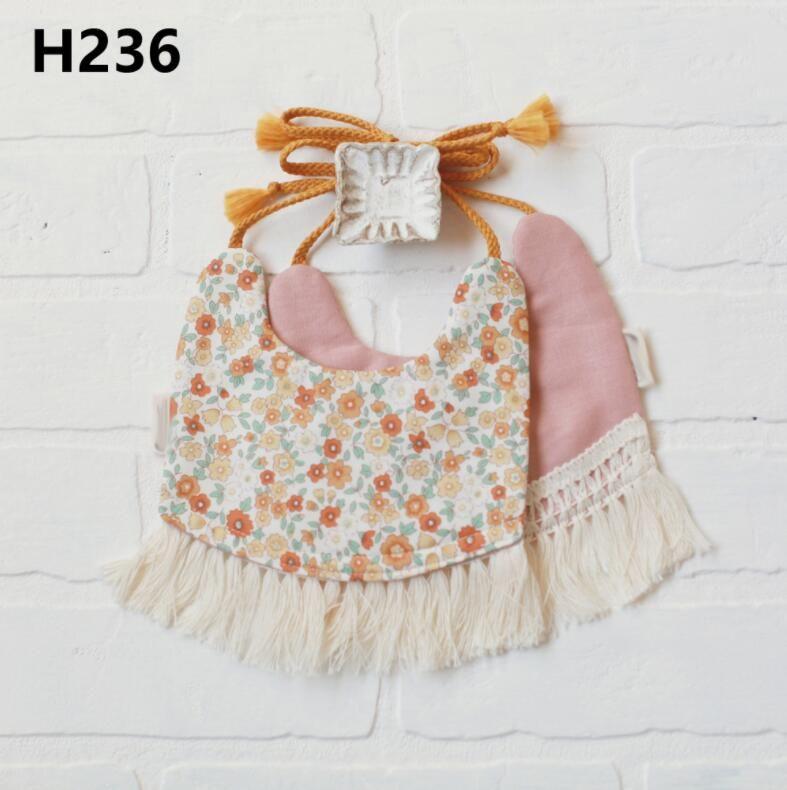 INS hotsale baby bibs burp cloths 100% cotton more designs fashion infant feeding bandana bibs double layer