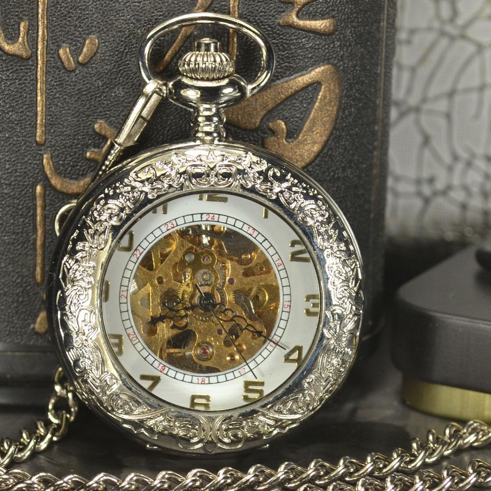 8ac7bd8df3b Compre Tiedan Relógio De Bolso Mecânico Homens Steampunk Cadeia De Luxo  Antigo Colar De Bronze Ocasional Esqueleto Automático Bolso Fob Relógios De  ...