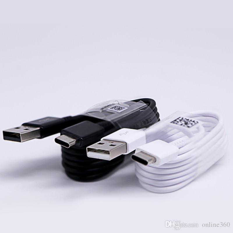 OEM 1.2M Tipo 4 pés USB C sincronização de dados de carregamento de alimentação Cabo Carregador Rápido trabalho para S8 S8 Plus Nota 8 Nota 4
