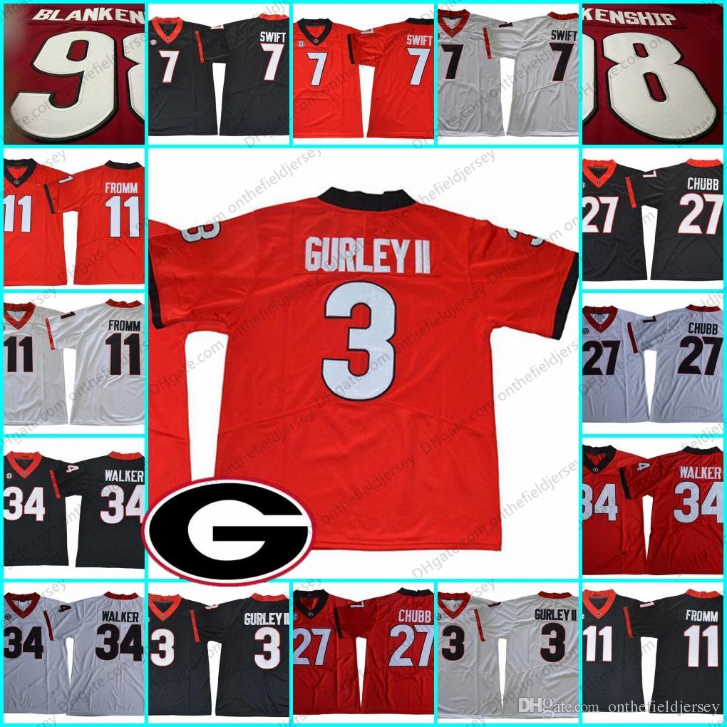 Georgia Bulldogs  3 Todd Gurley II 34 Herschel Walker 7 Matthew Stafford 7  D Andre Swift 11 Jake Fromm Jerseys 11 Jake Fromm Jersey 27 Nick Chubb  Jerseys 7 ... e09bc0ecb