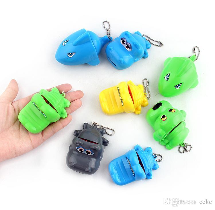 Mini Crocodile Shark Dog Biting Finger Games Dentist Toy Toys Novelties Bite Hand Toy Prank Gift Joke Games