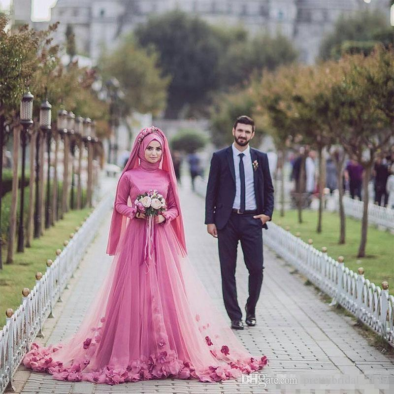 Discount Turkish Traditional Formal Bridal Gowns Long