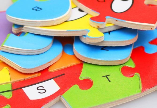 26 modelli in legno alfabeto animale apprendimento precoce puzzle jigsaw bambini bambino educativo accattivante giocattoli intelligenti blocco puzzle