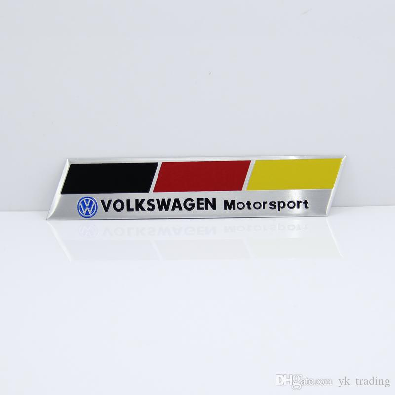Germania Bandiera nazionale Racing Car Sticker Fit Volkswagen Vw Plol Golf 6 Metal R Badge Motorsport Car Thin metallo alluminio Emblem