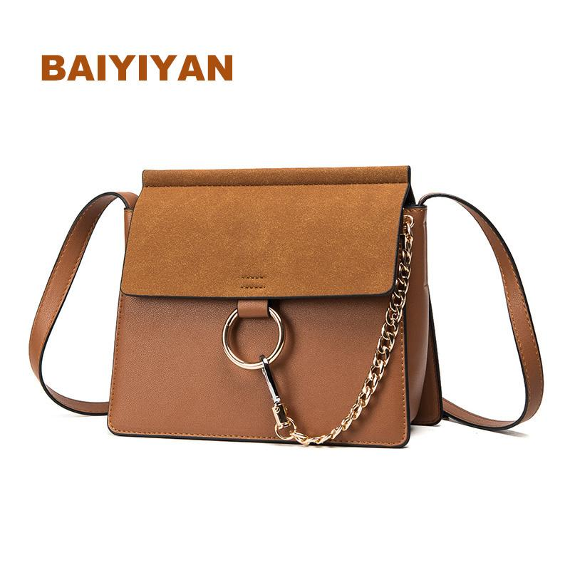 bd010f96fccf New Fashion Nubuck Leather Handbag Women Shoulder Bag High Quality ...