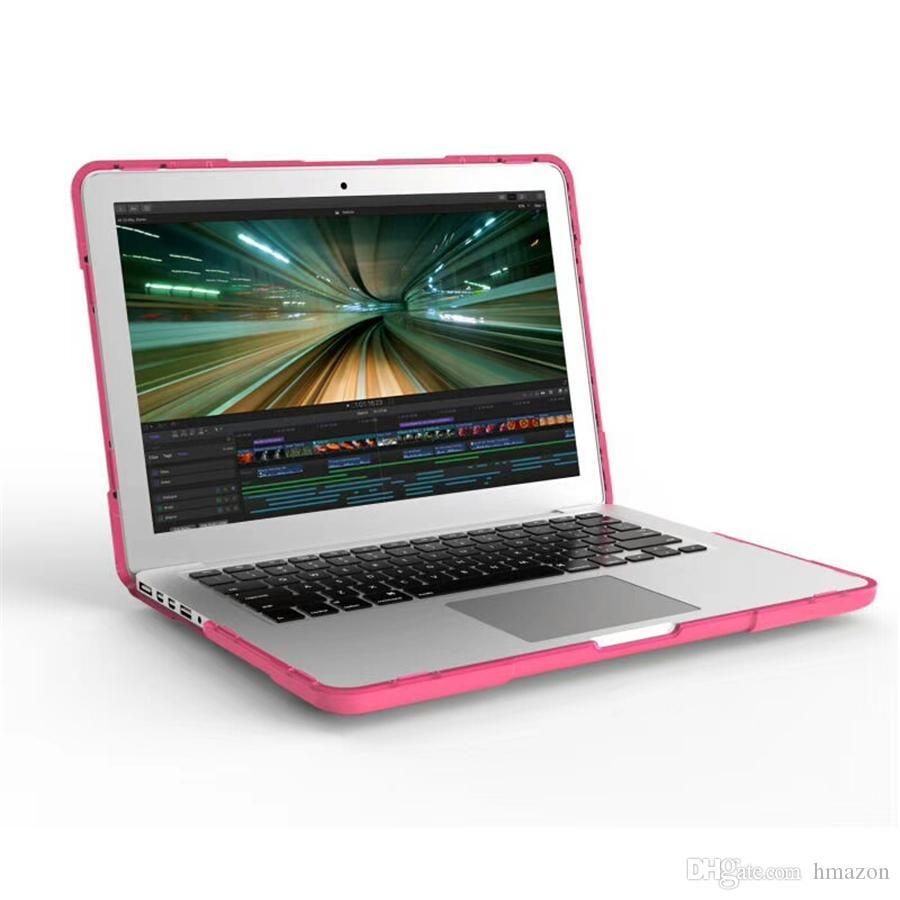 لماك بوك New touch bar 13 A1706 / A1708 New touch bar 15 A1707 Retina15 A1398 Pro Retina Crystal Clear Cases كامل الغطاء الواقي حالة