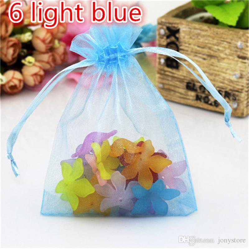 7X9CM Drawable White Small Organza Bags Wholesale Favor Wedding Christmas Gift Bag Jewelry Packaging Bags Navida