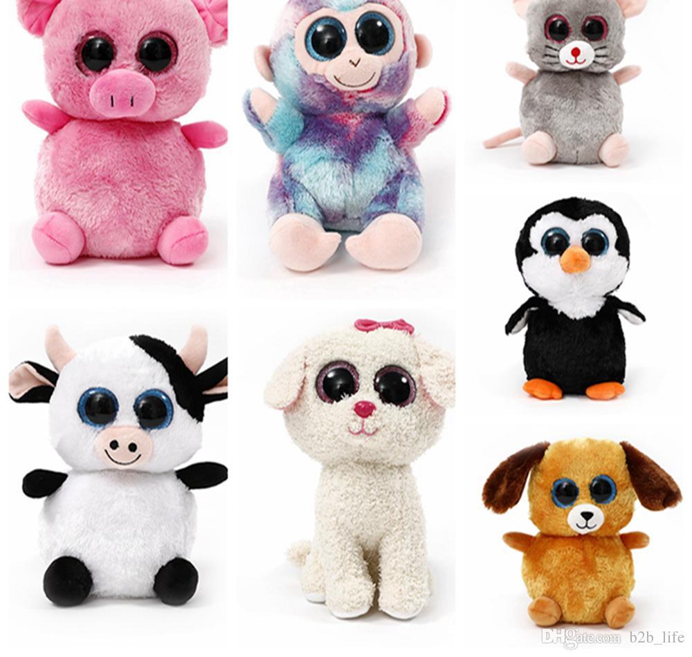Großhandel Ty Beanie Boos Hund Katze Große Augen Film Cartoon Puppe ...