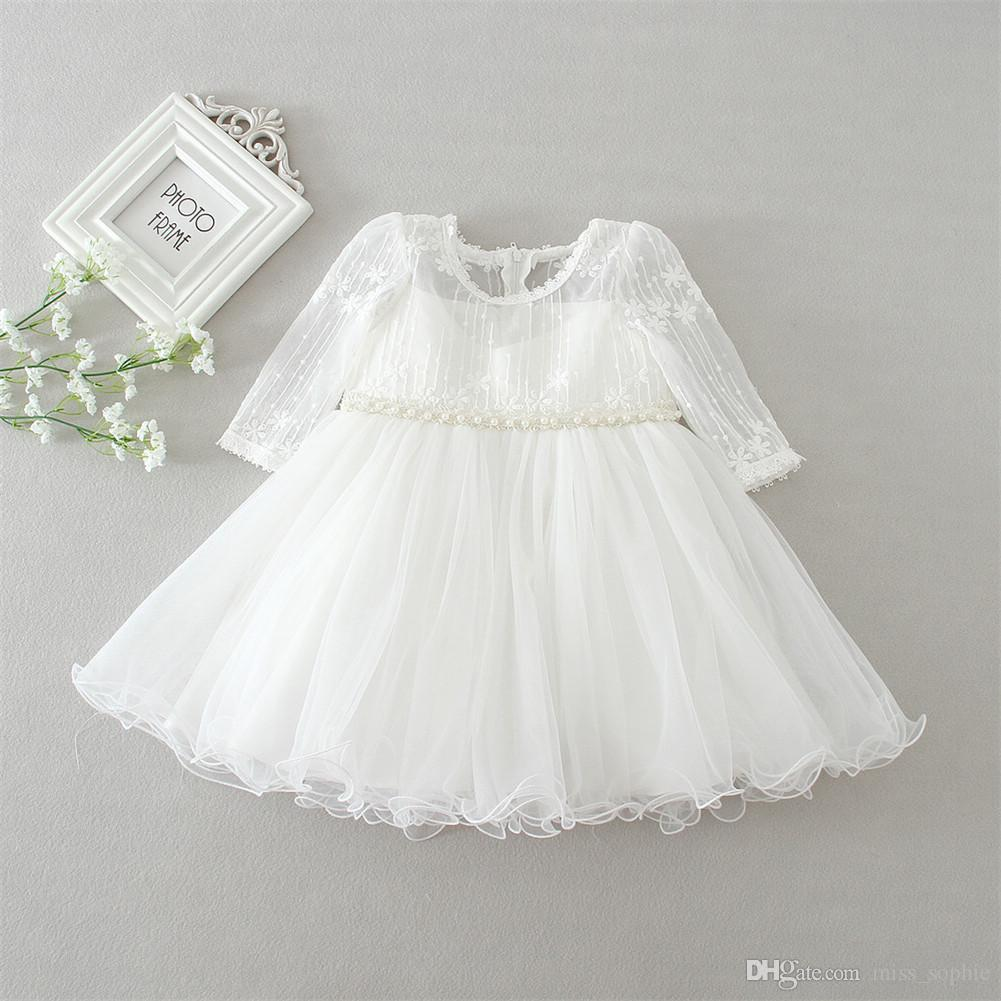 836cb7046c31 Newborn Toddler High Quality Lace Baby Baptism Dress Christening ...