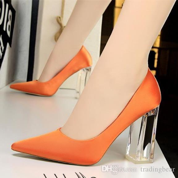 competitive price a05ac 9b658 Plus Größe 34 bis 40 41 42 43 Sexy High Heels spitzen Pumps Candy bunte  Satin Schuhe 12 Farben Frauen Designer Schuhe