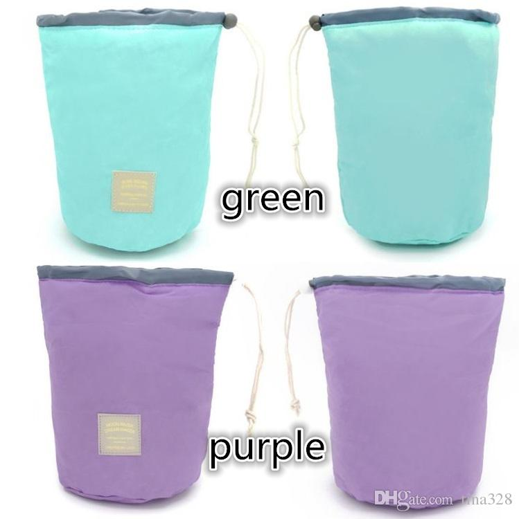Южная Корея путешествия цилиндр большой емкости водонепроницаемый макияж сумка портативный ремень мыть мешок косметический мешок сумки для хранения T4H0334