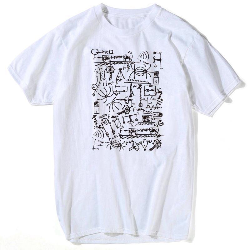 6d86160f7 Compre Camiseta Del Gato Camiseta Física Cuántica Camisetas Camiseta Para  Hombre The Big Bang Theory Camiseta Creativa De Manga Corta Camiseta Manga  Corta ...
