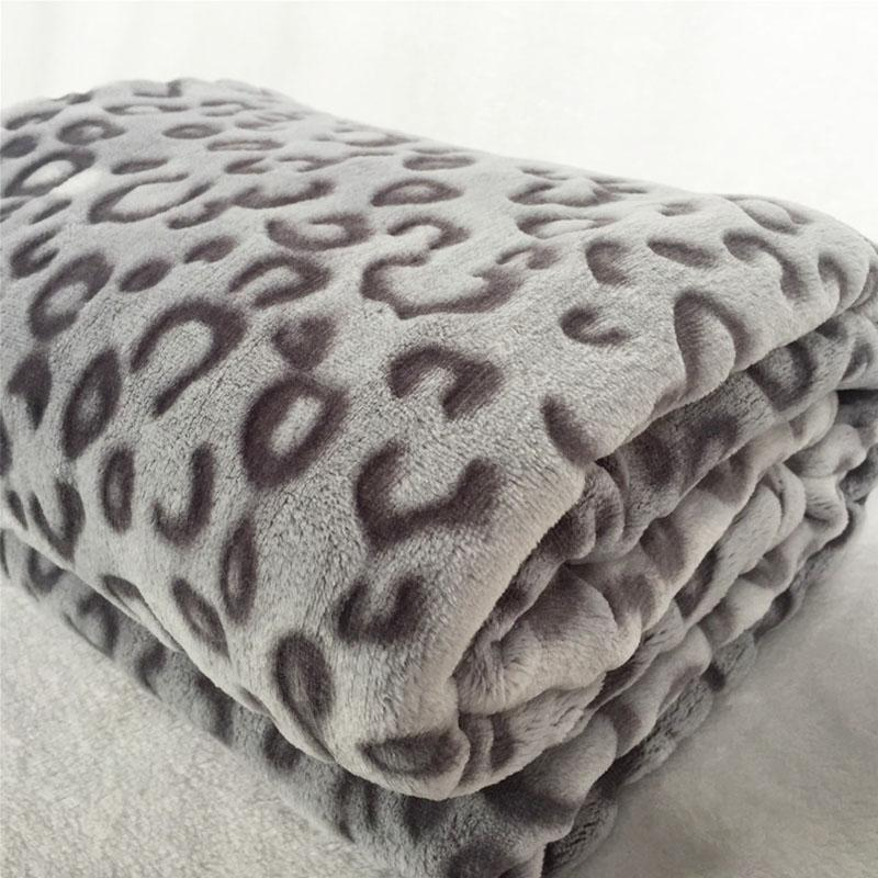 Quality Fashion Modern 40D Leopard Print Plush Faux Mink Flannel Beauteous Zebra Print Electric Throw Blanket