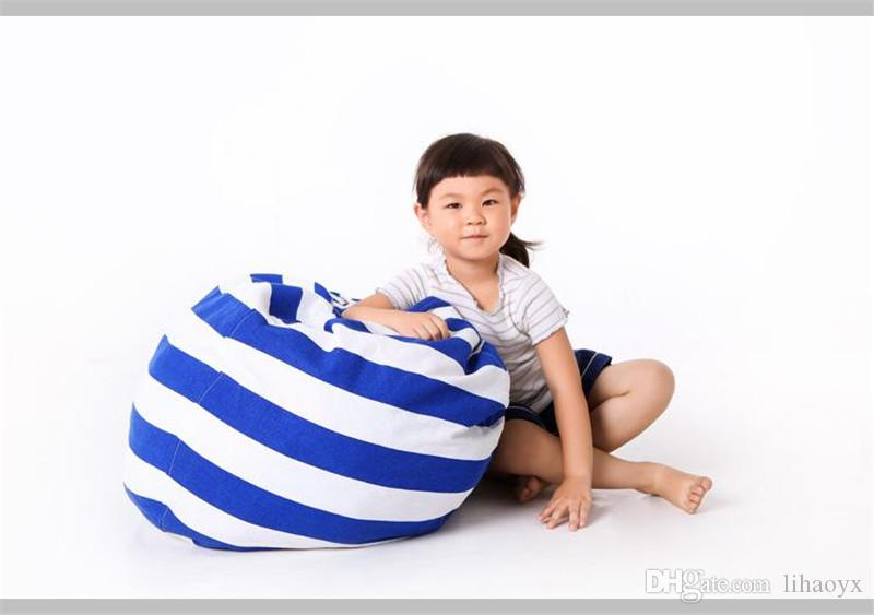 Creative Modern Storage Stuffed Animal Storage Bean Bag Chair Portable Kids Toy Storage Bag & Play Mat Clothes Organizer Tool c339