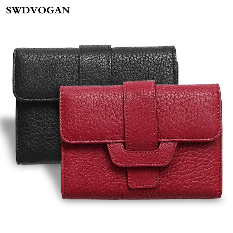 Wallet For Women Purse Business Card Holder Genuine Leather Wallet ...