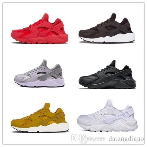 9d5962d88a8e 2018 Air Huarache Running Shoes Triple White Black Huraches Running Trainers  for Mens Women Outdoors Shoes Huaraches Sneakers Hurache 36-45 Running Shoes  ...