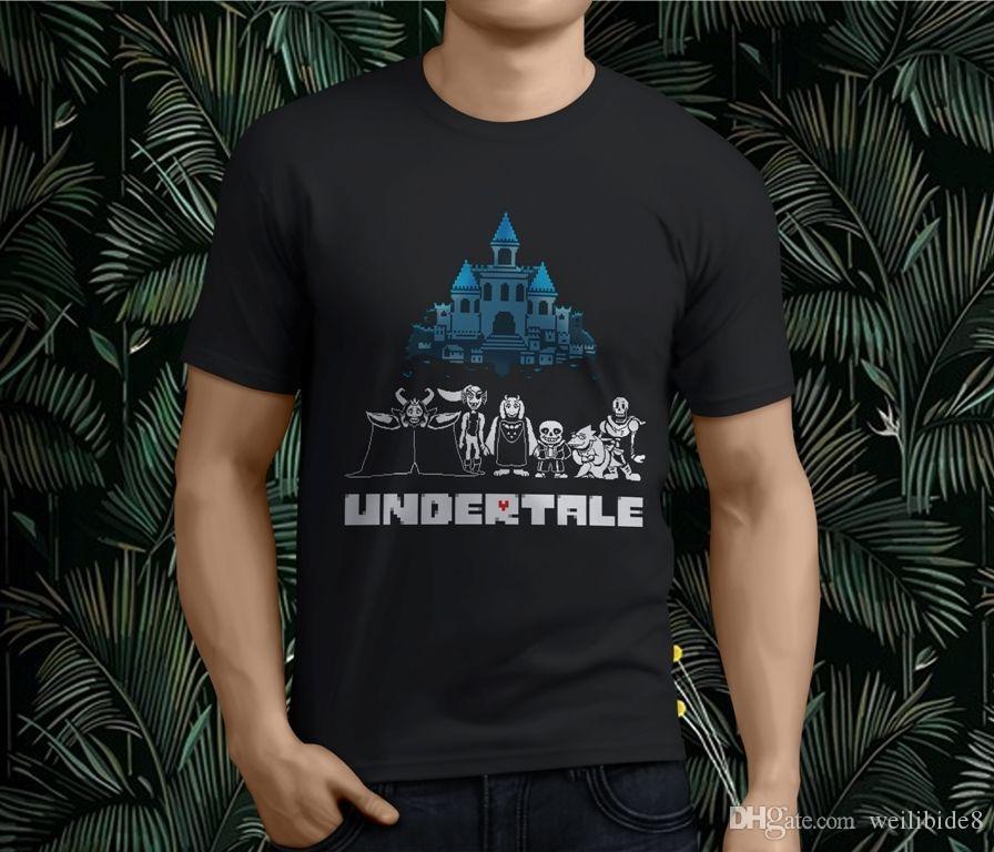 New Undertale Asgore Undyne Toriel Sans Alphys Papyrus Men's Black T-Shirt  S-3XL Letter Printing T shirt High Quality
