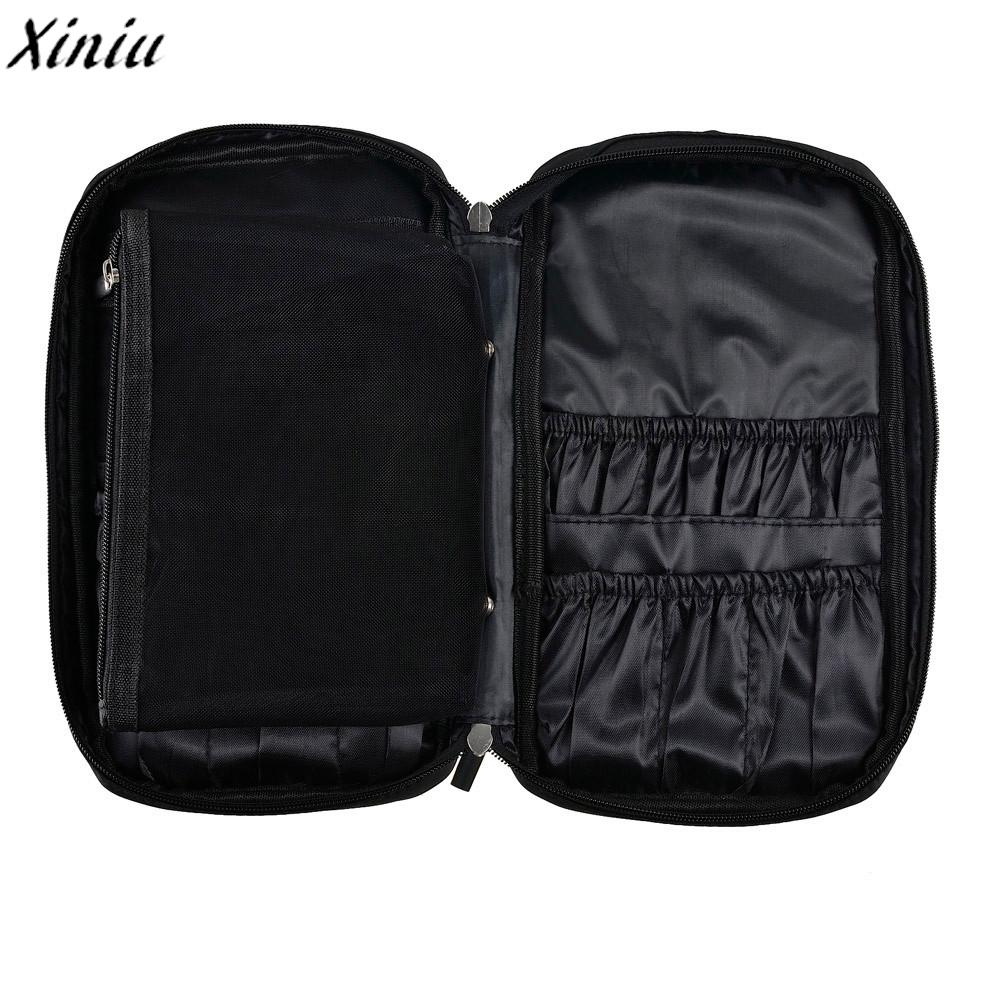 11968c380706 Professional Makeup Bag Pro Brush Tool Cosmetic Organizer Holder Solid  Storage Pouch Pocket Kit Cosmetiquera Mujer  Y109 Clear Cosmetic Bags  Cosmetic Online ...