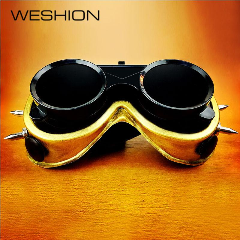 Top Quality Steampunk Sunglasses Men Retro Goggles Punk Mask Halloween Cosplay Party Glasses Vintage Eyewear